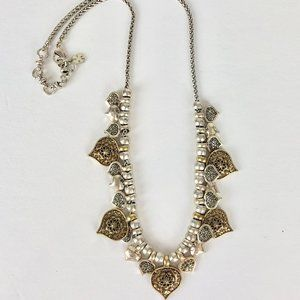 Lucky Brand Reversible Marcasite Heart Necklace